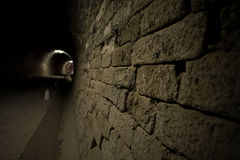 Black tunnel Stock Image
