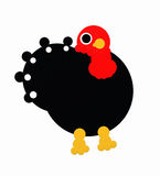 Black turkey. A big black turkey made from round shapes Stock Images