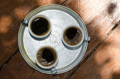 Black turkish coffee Royalty Free Stock Image