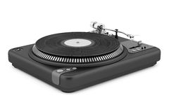 Black turntable isolated on white. Background Royalty Free Stock Photo