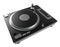 Black turntable isolated on white background with clipping mask Stock Photography