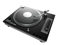 Black turntable isolated on white background with clipping mask Royalty Free Stock Photography