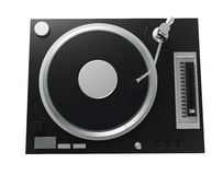 Black turntable isolated on white background with clipping mask Stock Images