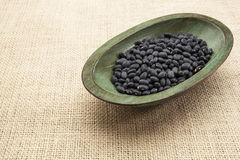 Black turtle beans Royalty Free Stock Photography