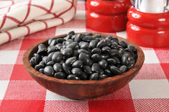 Black turtle beans Royalty Free Stock Image