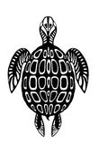 Black turtle tattoo Stock Images