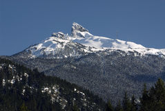 Black Tusk in Coast Mountains Stock Image