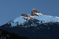 Black Tusk peak in winter Stock Photos