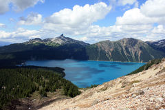Black Tusk Summit And Garibaldi Lake Royalty Free Stock Photography
