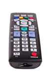 Black TV remote control isolated on white Royalty Free Stock Photo