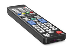 Black TV remote control Stock Photo
