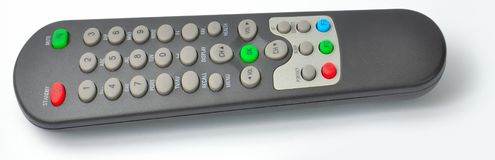 Black TV Remote control from the side Stock Photography