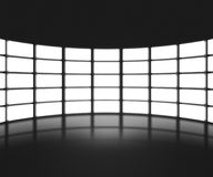 Black TV Show Stage Backdrop Royalty Free Stock Image