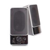 Black two speaker. On white background Stock Photos