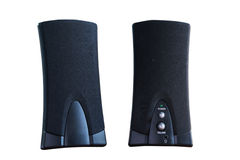Black two speaker computer Royalty Free Stock Photos
