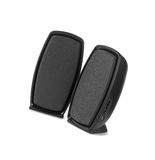 Black two speaker isolated royalty free stock image