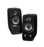 Black two speaker isolated Royalty Free Stock Photo