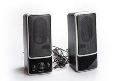 Black two speaker isolated on white background Royalty Free Stock Image