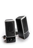 Black two speaker on white background Stock Photography