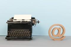 Black typewriter Stock Photos