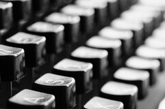 Black Typewriter Keys Stock Photos