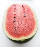 Black Tyrant King Super Sweet Watermelon on White background Royalty Free Stock Photography