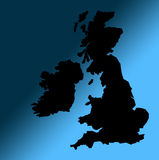 Black UK map outline Stock Image