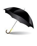 Black umbrella. On a white background Royalty Free Stock Images