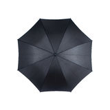 Black umbrella. Top view of black umbrella isolated on white background Royalty Free Stock Photo