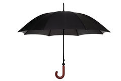 Black umbrella isolated Stock Photography