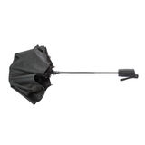 Black umbrella isolated over the white background Royalty Free Stock Photography