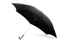 Black umbrella with white background Royalty Free Stock Images