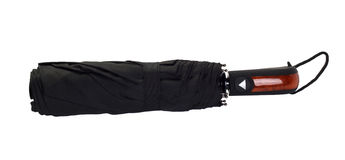Black umbrella on white background Royalty Free Stock Images