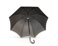 Black umbrella on a white background Stock Photo