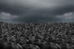 Free Black Umbrellas In The Rain Background Stock Photo - 175428050