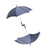Black umbrellas Royalty Free Stock Photo