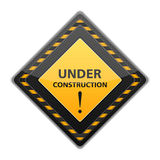 Black under construction sign Stock Image