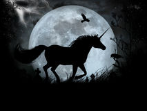 Black Unicorn. Something for Halloween royalty free illustration