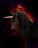 Black Unicorn Stock Photo