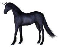 Black Unicorn - standing Stock Images