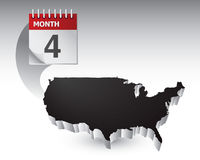 Black united states icon calendar Royalty Free Stock Photo