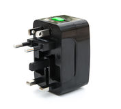 Black universal adapter Stock Images