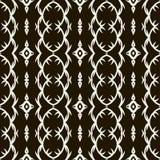 Black universal vector seamless patterns, tiling. Geometric ornaments. Stock Image