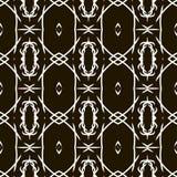 Black universal vector seamless patterns, tiling. Geometric ornaments. Stock Photo