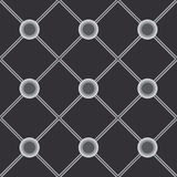 Black universal vector seamless patterns, tiling. Geometric ornaments. Stock Image