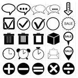 Black universal web icons set. Vector black universal web icons set Stock Image