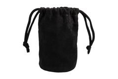 The black untied bag Royalty Free Stock Images