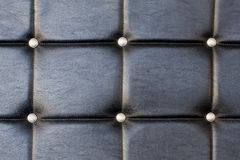 Black upholstery pattern with diamonds Royalty Free Stock Photos