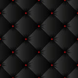 Black upholstery texture seamless pattern Royalty Free Stock Images