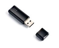 Black usb flash drive Royalty Free Stock Photography